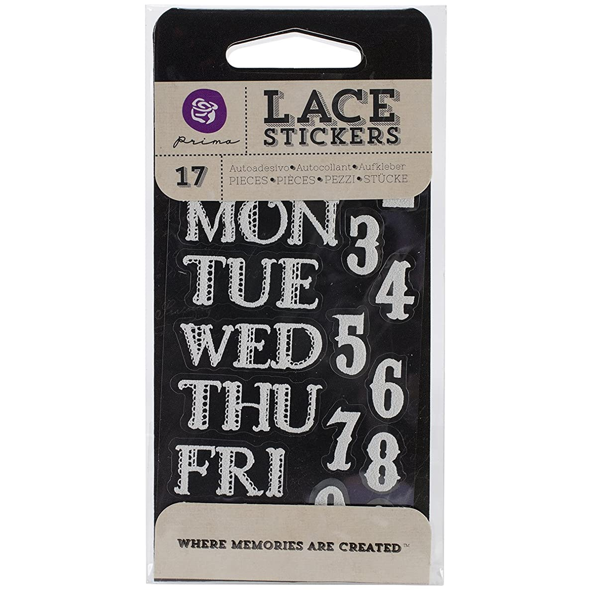 Prima Marketing Lace Stickers, Day to Day