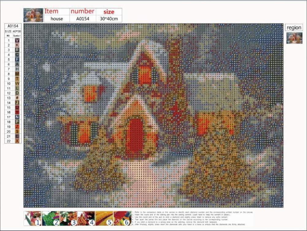 5D Diamond Art Painting Full Drill Kits Awesocrafts Winter Snow ...