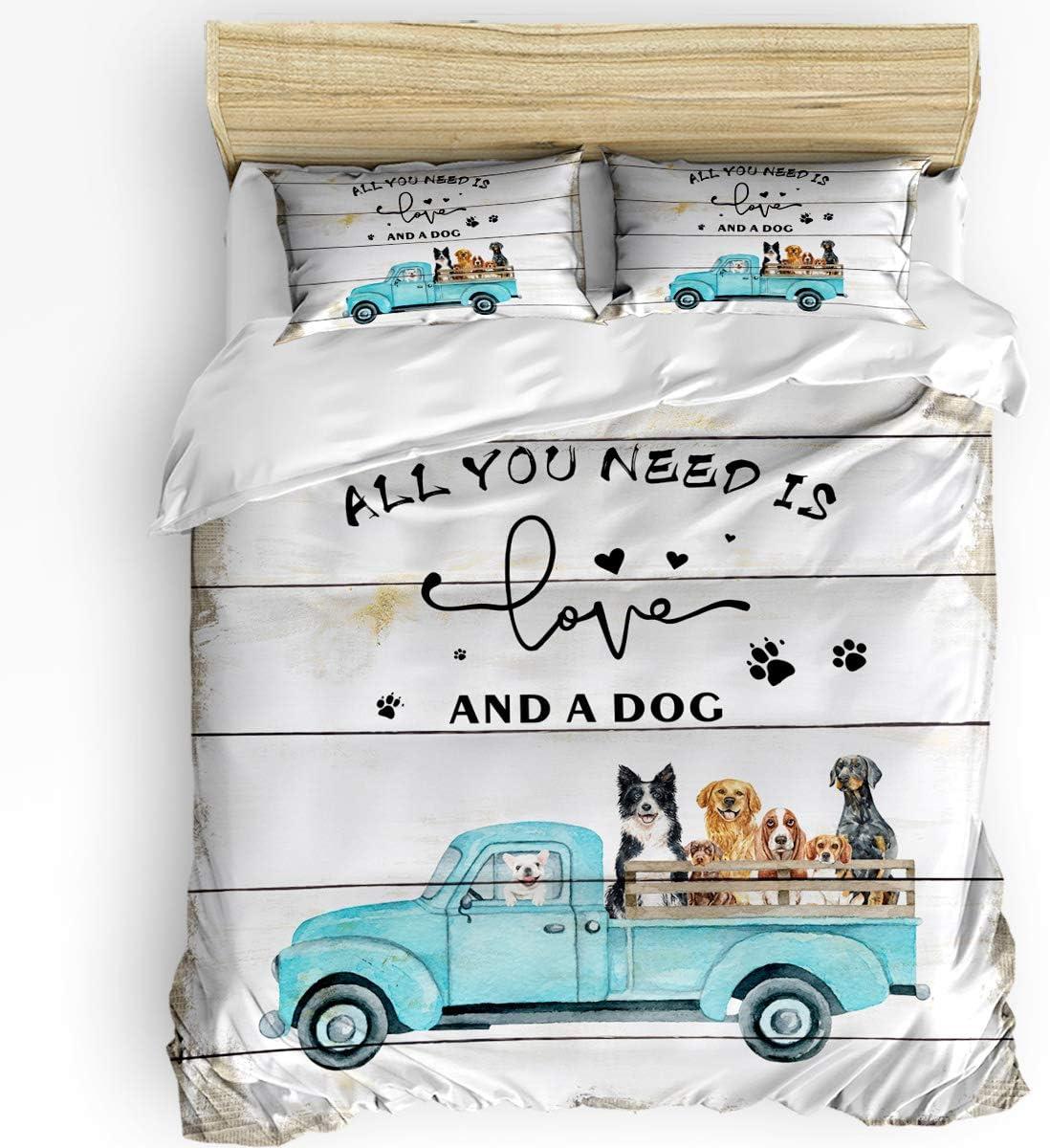 3 Financial sales sale Pieces Import Breathable Bedding Set Farm Pet Loads Dogs Truck Count