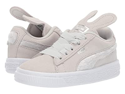 Puma Kids Suede Bunny Slip-On (Toddler) (Glacier Gray/Coral Cloud) Girls Shoes