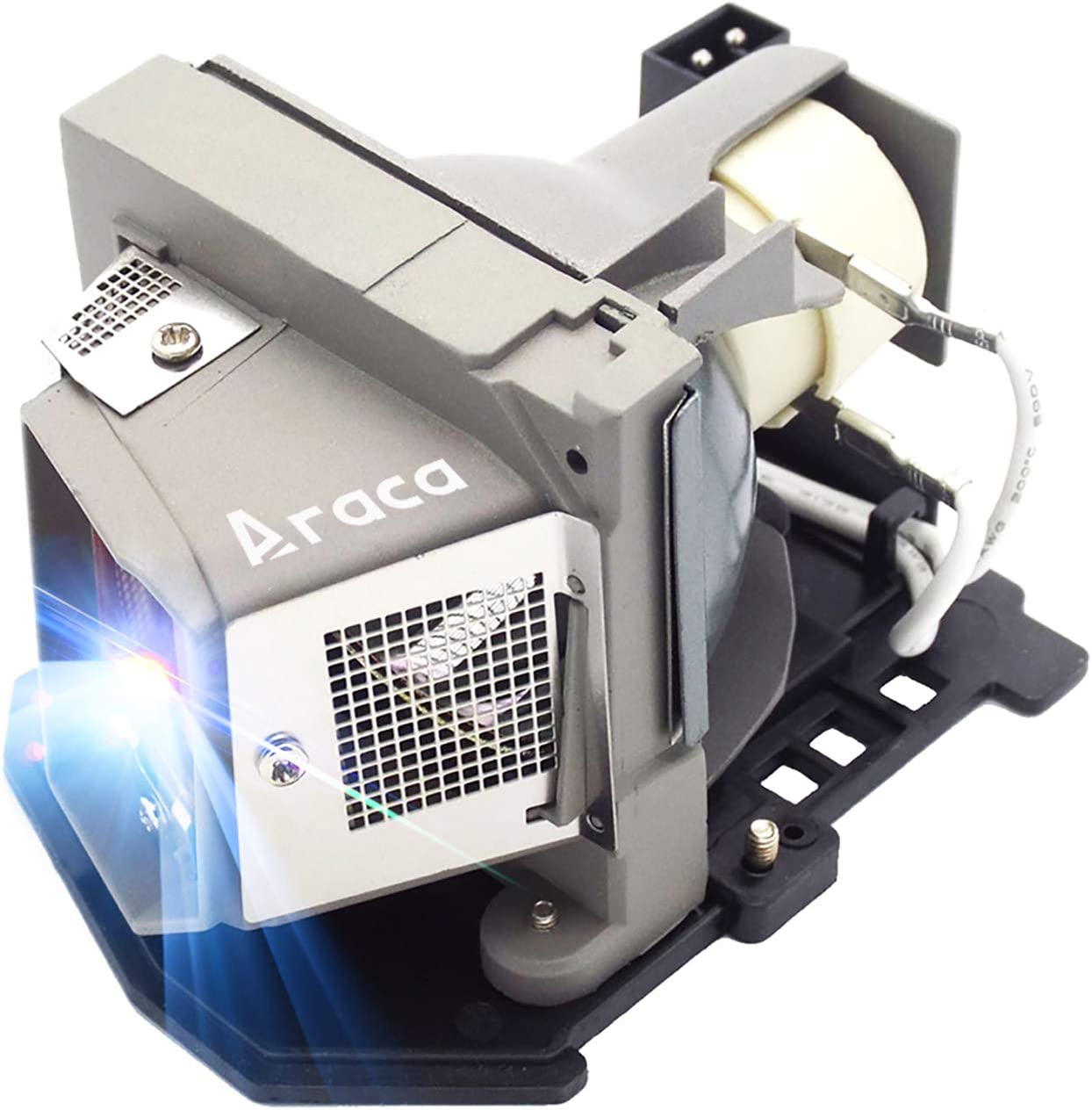 Araca BL-FU185A /SP.8EH01GC01 /1210S /725-10193/317-2531 Replacement Projector Lamp with Housing for HD66 PRO250X HD6700 TX536 EW536 HD600X HD67 HD67N PRO150S TW536 PRO350W DELL 1210S Projector