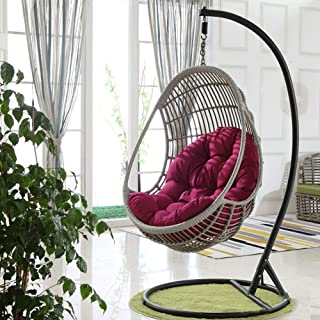 Swing Hanging Basket Seat Cushion, Thicken Hanging Egg Hammock Chair Pads Waterproof Chair Seat Cushioning for Patio Garden (Color : Purple, Size : 90x120cm(35x47inch))