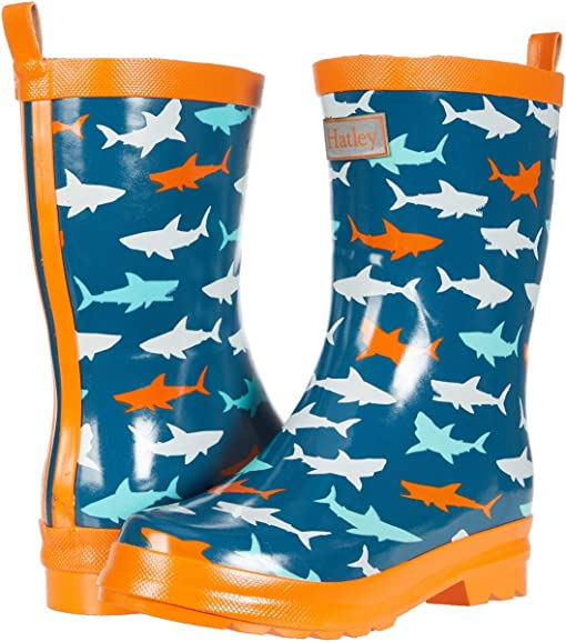 Lucky Top Camo Little Kids Rain Boots Blue