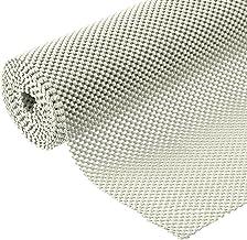BNYD Drawer Liner Non Adhesive Kitchen Shelf Liner, Anti-Slip Mat Cabinet Grip Liner 12 in. x 20 ft. (White)