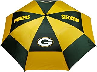 """Team Golf NFL 62"""" Golf Umbrella with Protective Sheath, Double Canopy Wind Protection Design, Auto Open Button"""