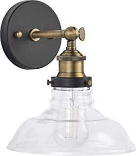 Lucera LED Industrial Wall Sconce - Antique Brass Light Fixture - Linea di Liara LL-WL431-AB