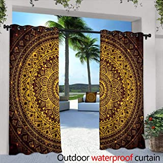 Outdoor Blackout Curtains,Beautiful template cardHandpainted illustrationWatercolor feathers with ribbons,shells,beads,strings of pearls and other decorations on white backgroundBe creativePerfect fo