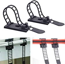 Adjustable Self-Adhesive Nylon Cable Tie mounts Cable Straps with Optional Screw Cord Clamps for wire management(50pack)