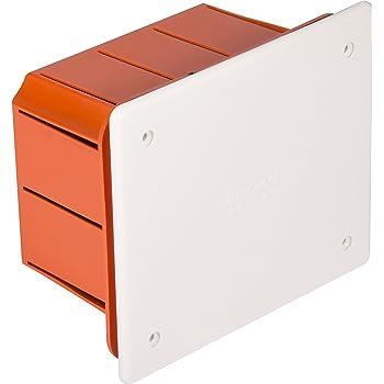 Electraline 60413 - Caja de derivación (para empotrar en obra, 296x153x70 mm), Blanco/Naranja (White/Orange): Amazon.es: Bricolaje y herramientas