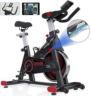 SNODEMagneticIndoorExerciseBike Stationary Compatible with ZWIFT, Kinomap APP - CyclingBikewithTabletHolder,Seat ...
