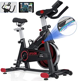 SNODE Magnetic Indoor Exercise bike, Cycling Bike With Tablet Holder, Stationary Bike Compatible with ZWIFT, Kinomap
