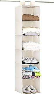 Umi. by Amazon - Organizador para armario de 6 niveles, estantería colgante de tela para ropa, beige, 130,8 cm de altura