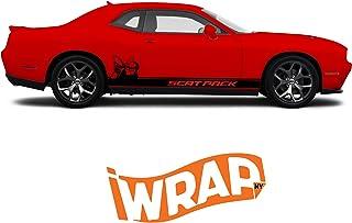 iWrap Dodge Challenger Scat Pack Side Stripe with Bee (Satin Black)