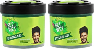 Set Wet Hair Gel For Men, Vertical Hold, Strong Hold, Jar, 250 ml (Pack of 2)