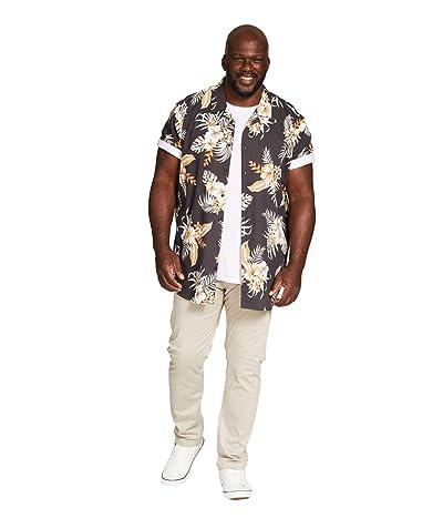 Johnny Bigg Big Tall Miami Print Shirt (Charcoal) Men
