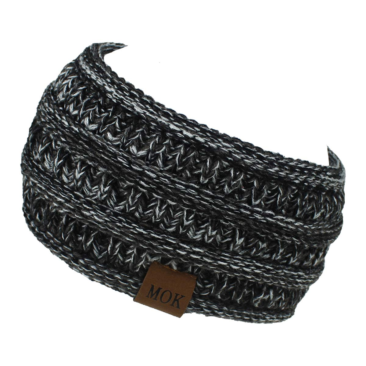 Fashion Women Warm Fuzzy Fleece Lined Headband Winter Ear Warmer Headband Cable Knit Ear Cover & Headwrap for Women Girls
