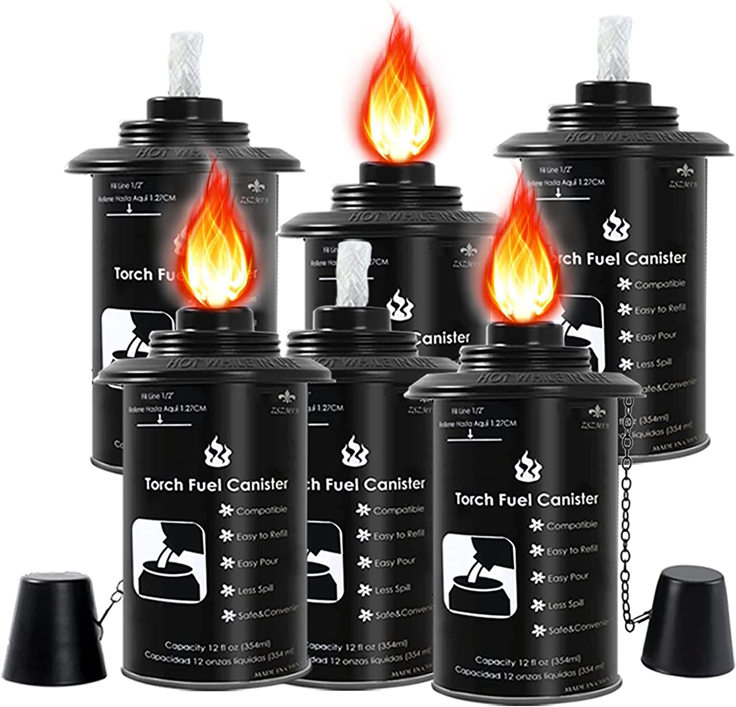 ZSZMFH 6Pcs Torch Canisters 12 oz B Excellence Fuel Replacement Over item handling
