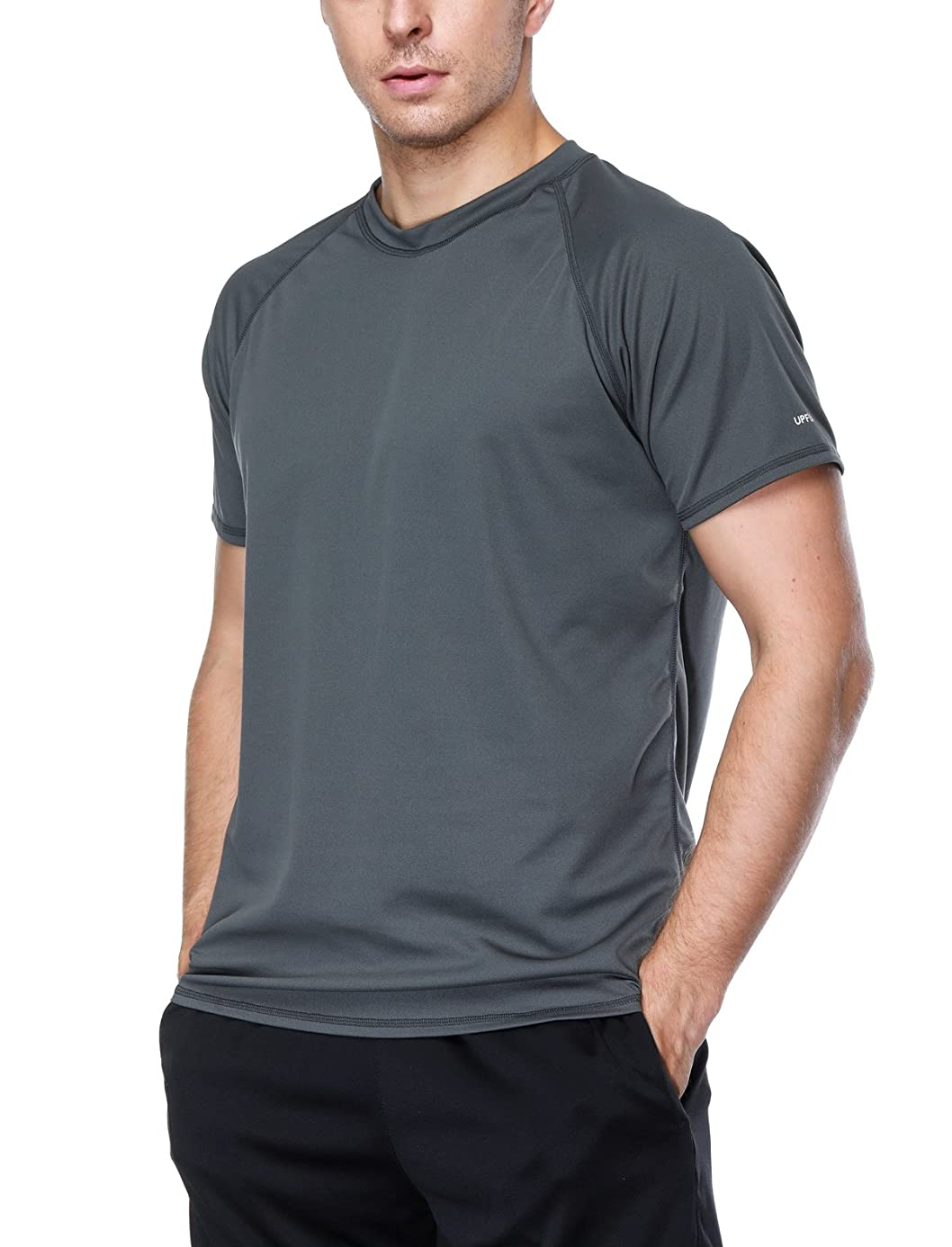 ATTRACO Men's Rashguard Swim Tee Short Sleeve Sun Protection Shirt Loose Fit