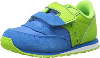 Saucony Jazz Hook & Loop Sneaker (Toddler/Little Kid), Blue/Green, 4 M US Toddler