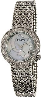 Bulova Silver Stainless Steel Quartz Fashion Watch for Women