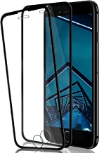 iPhone SE 2020/8/7/6S/6 Screen Protector by BIGFACE, [2 Pack] HD Clarity Full Coverage Premium Tempered Glass, Case Friendly, Anti - Scratch, 3D Touch Accuracy Film for iPhone SE 2nd/8/7/6S/6 (Black)