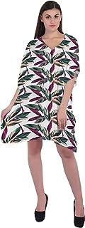 RADANYA Tropical Short Casual Cotton Kaftan Evening Summer Beach Dress Caftan for Women