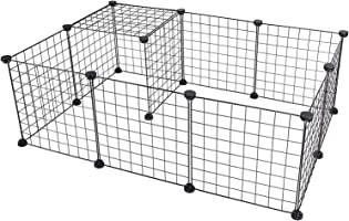 CYY 12 Panels Metal Pet Playpen, Small Animals Playpens Cage, Portable Yard Fence Indoor Ideal for Guinea Pigs, Rabbit,...