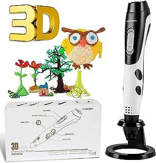 Pluma de Impresión 3D, GIANTARM Pluma 3D con Pantalla LCD,filamento PLA de 12 Colores, Temperatura Ajustable/Velocidad, Bo...
