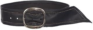 Sunny Belt 女孩 5.08 厘米宽仿皮黑色腰带带银色扣