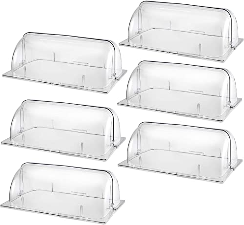 """popular Mophorn 6 Pack Chafing Dish Cover Clear 21"""" x high quality 13"""" x 6.7"""" Full Size Roll Top Chafing Dish Clear lowest Plastic Bakery Pan Display Cover outlet online sale"""