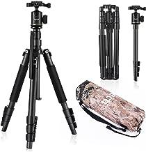 Zecti Travel Tripod 55 inch Aluminum Camera Tripod and Monopod for DSLR Digital Cameras Video GoPro Nikon Canon Sony