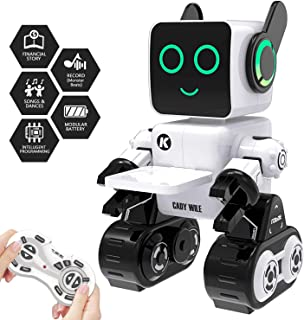 Robot Toy, Remote Control Robot Toy for Kids, Intelligent Programming RC Robot, Suitable for Kids Aged 8 and Over to Sing, Dance, Talk, Transfer Items and Play with Kids as a Gift for Child (White)