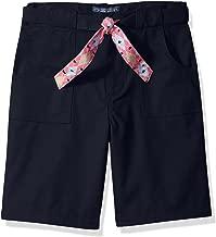 Cherokee Girls' Uniform Twill Short with Belt