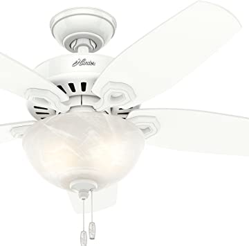 Hunter Fan 42 Inch Small Room Ceiling Fan In Snow White With Bowl Light Kit Renewed Snow White Amazon Com