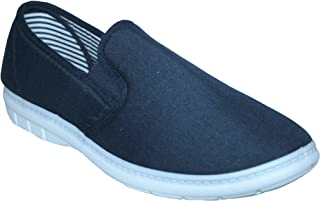 Footloose.Shoes Mens Wider Fitting Casual Holiday Beach Walking Canvas Pump Trainers Deck Shoes Loafer Size 6-12