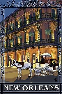 New Orleans, Louisiana - French Quarter (9x12 Art Print, Wall Decor Travel Poster)