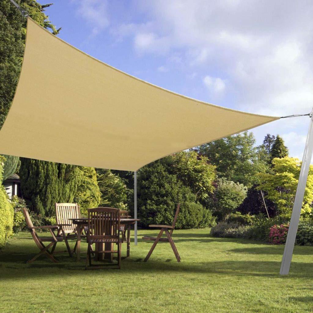 Toldo de toldo de jardín para patio, césped, camping, caravanas, 10 pies x 13 pies, tela rectangular para sombra, cubierta exterior resistente a los rayos UV, toldo de tela (color arena): Amazon.es: