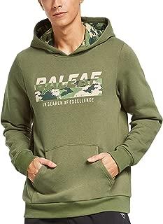 BALEAF Men's Thermal Fleece Camo Hoodie Casual Long Sleeve Pullover Hooded Sweater