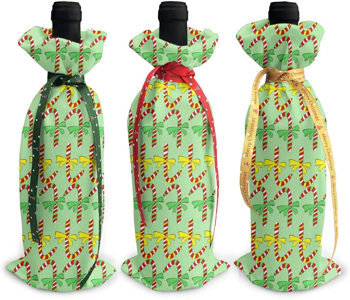 Cartoon Green Christmas Candy Luxury goods Bow3Pcs Xmas Red Wine Branded goods Gl