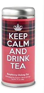 Keep Calm and Drink Tea- Raspberry Oolong Tea: All-Natural blend, Immune booster, Antioxidants, 24 Servings