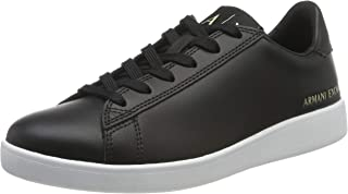 Armani Exchange Action Leather Logo AX Lace Up Sneaker, Mujer