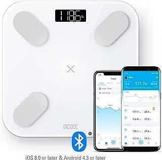 PICOOC Bluetooth Smart Body Fat Scale, Big Pro, White