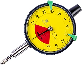 Mitutoyo 2972TB Dial Indicator, 0.01, 1 mm, 8 mm Stem, Flat Back