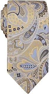 Remo Sartori - Cravatta in Pura Seta Fantasia Cashmere Multicolor, Made in Italy, Uomo