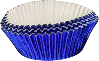 Jubilee Sweet Arts 50 Count Foil Cupcake Muffin Baking Cups, Blue