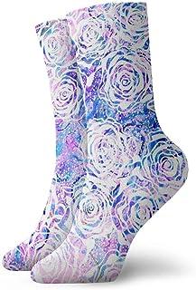 Calcetines coloridos del tobillo de las rosas ocasionales divertidos para la bota deportiva que camina que corre etc.