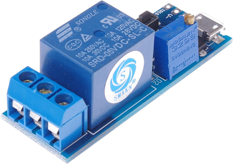 SMAKN Wide Voltage 5V-30V Power Supply Adjustable Trigger Delay Time Relay Module