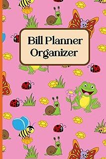 animals bills tracker: Bill Pay Log Book, Home Finance Bill Organizer, Budget Log, Monthly Expense Tracker, Cute Safari Wi...