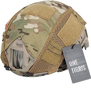 OneTigris ヘルメット迷彩カバー Fastヘルメットに PJ/MHタイプ 軍用カバー サバゲー装備 (マルチカム迷彩-ZKB)