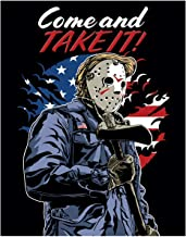 Come and take it United States Fine Art Print - 11x14 Unframed Photo Wall Art - Gift for Defenders of America. Perfect for the Game Room, Man Cave. USA Decor Poster Under $20